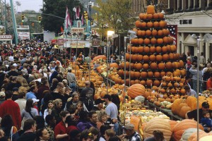 "Known to draw nearly 300,000 people from all 50 states, Ohios Circleville Pumpkin Show is the sixth largest festival in the country and has been dubbed the ""Greatest Free Show on Earth"". (PRNewsFoto) [Photo via NewsCom]"